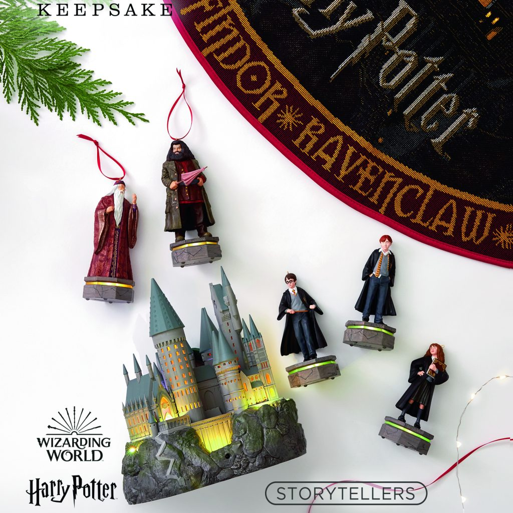 Image of all 7 Harry Potter Keepsake Ornament items