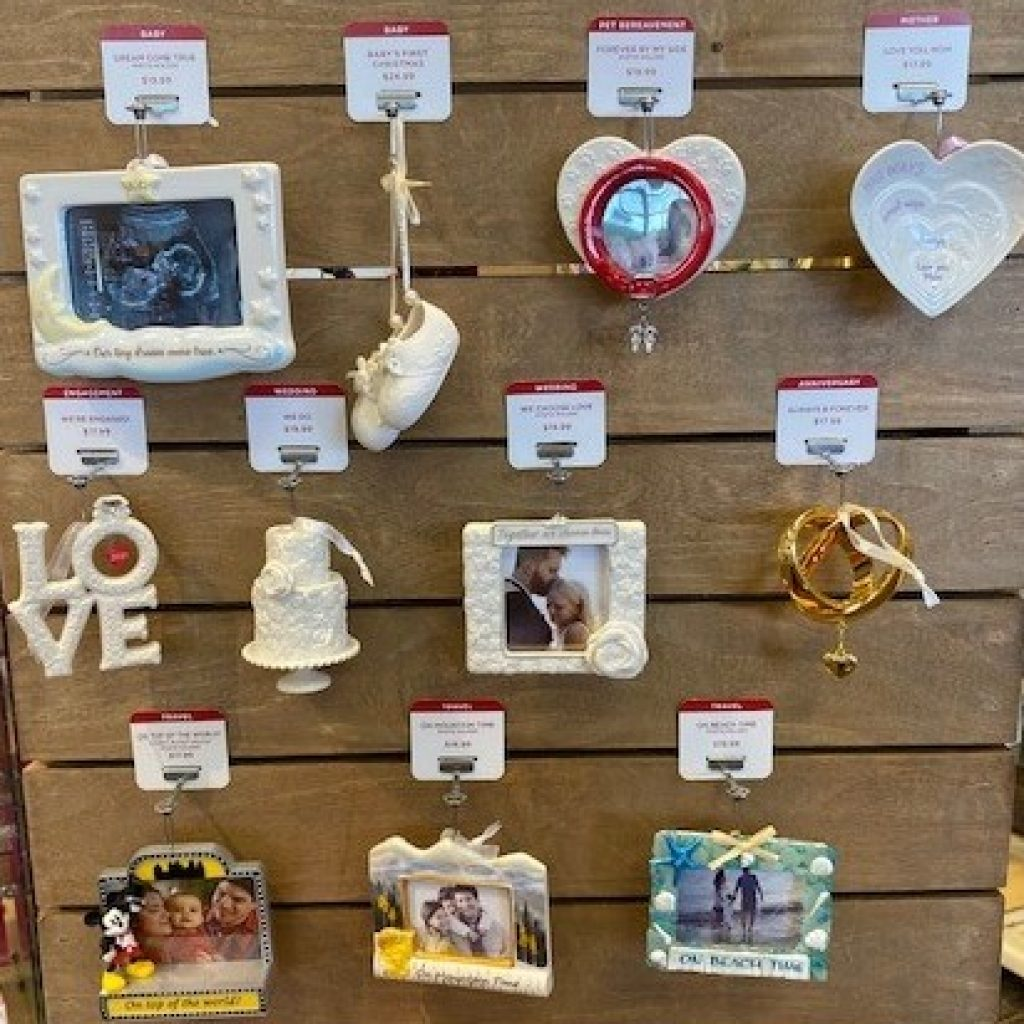 picture of everyday Hallmark ornaments